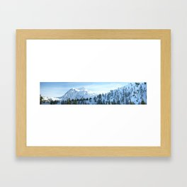 The Top of Mount Baker Highway Framed Art Print
