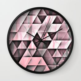 Pink's In Wall Clock
