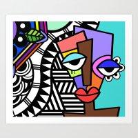 artsy Art Prints featuring Artsy by Andrea Silvestri