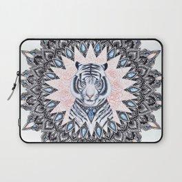 White Tiger Sapphire and Rose Mandala Laptop Sleeve