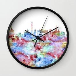 Copenhagen City Skyline Wall Clock