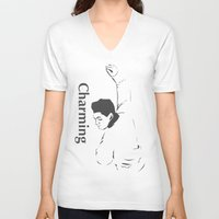 the smiths V-neck T-shirts featuring This charming cartoon - the smiths by Trendy Youth