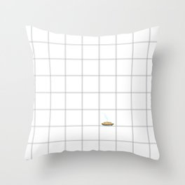 Pie Cooling on the Windowpane Pattern Throw Pillow