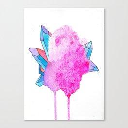 glitter crystal Canvas Print