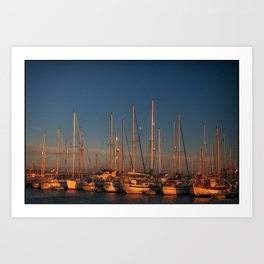 Moon over Amble Art Print