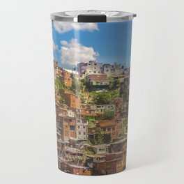 Favelas at Hill, Medellin, Colombia Travel Mug