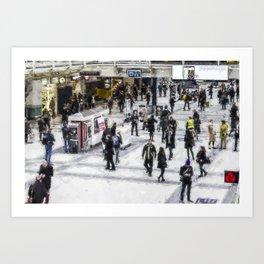 London Commuter Art Art Print