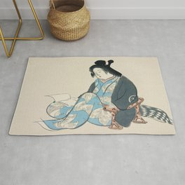 Kamisaka Sekka - Reading lady from Momoyogusa Rug