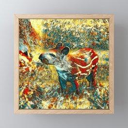 AnimalArt_Tapir_201901_by_JAMColors Framed Mini Art Print