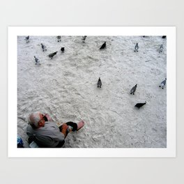 Feed the Birds - St. Pete Beach, Florida Art Print