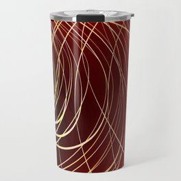 Complex Swirl-Golden Red Travel Mug