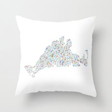 Sea Glass Throw Pillow