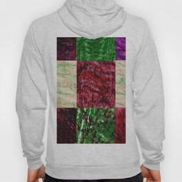 Patchwork color gradient and texture 2 Hoody