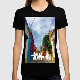 C for Cartagena Fun Cut Out Cartagena Street Print T-shirt