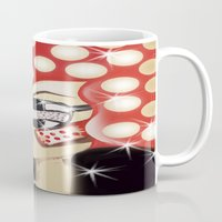 sin city Mugs featuring Sin City by Artist Fran Doll