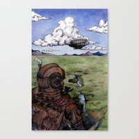 steam punk Canvas Prints featuring Steam Punk by Elizabeth A