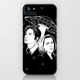 Mulder and Scully iPhone Case