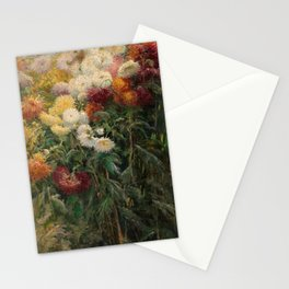 Chrysanthemums by Gustave Caillebotte Stationery Cards
