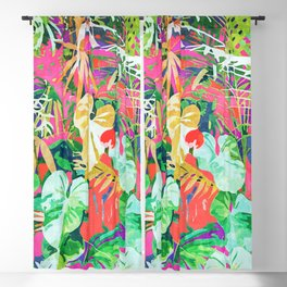 Find Me Where The Tropical Things Are #painting #botanical Blackout Curtain