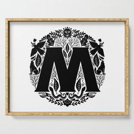 Letter M monogram wildwood Serving Tray
