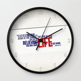 Life in His Name Wall Clock