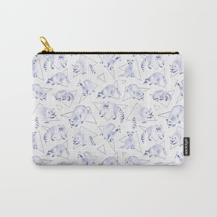 Raccoons | Triangles Carry-All Pouch