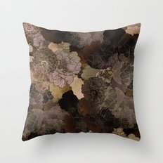 vintage floral shades Throw Pillow
