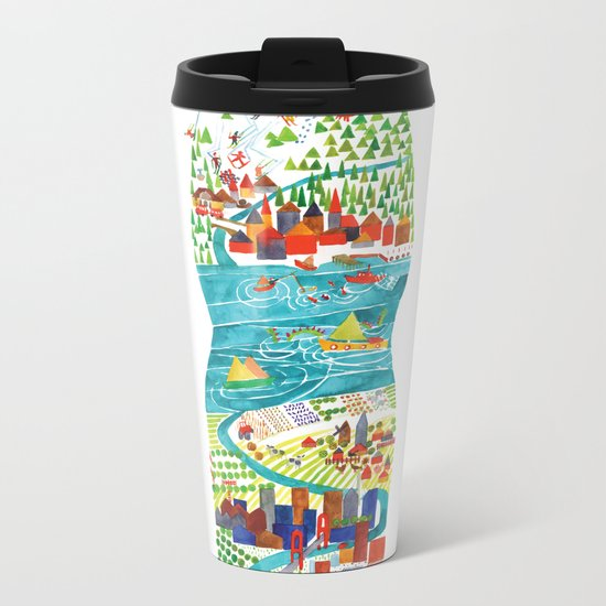 Water is life Metal Travel Mug