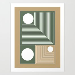 Stylish Geometric Abstract Art Print