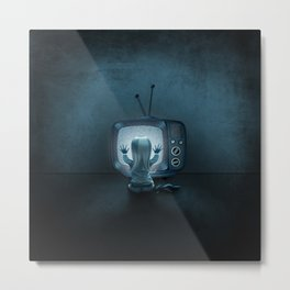 Tune in Poltergeists Metal Print