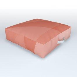 Living Coral Geometric Outdoor Floor Cushion