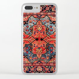 Kashan Poshti Central Persian Rug Print Clear iPhone Case