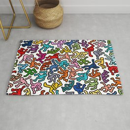 Homage to Keith Haring Color Rug