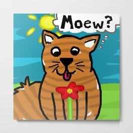 Kiddy Cat Metal Print