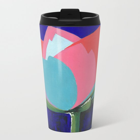 Flashy Flower Metal Travel Mug