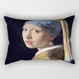 Vermeer, Girl with a Pearl Earring,Meisje met de parel,La joven de la perla Rectangular Pillow