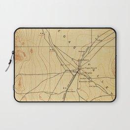Vintage Map of The Las Vegas Valley NV (1907) Laptop Sleeve