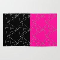 pyramid Area & Throw Rugs featuring Pyramid by Georgiana Paraschiv