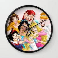 lady Wall Clocks featuring Smile for the Camera by Brianna