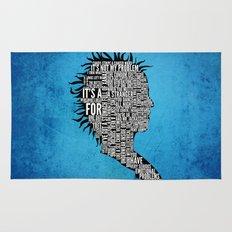 Typography Marla Singer Rug