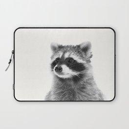 Black and white raccoon Laptop Sleeve
