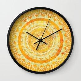 Sun Mandala 4 Wall Clock