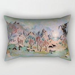 Dragon Hills Rectangular Pillow