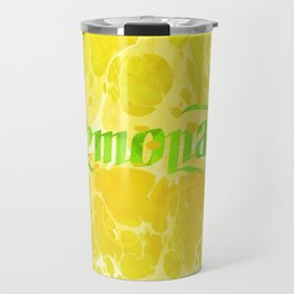 Fresh Lemonade - Abstract Digital Arwork Travel Mug