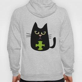 Black cats playing Hoody