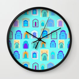 Moroccan Doors Wall Clock