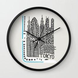 Tokyo Cityscape Wall Clock