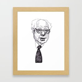 rumply bernie sanders Framed Art Print