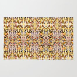 Fruit Out the Wazoot: Psychedelic Kaleidoscope Rug