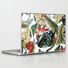 Tropical Pug Laptop & iPad Skin